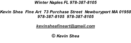 Winter Naples FL 978-387-8105  Kevin Shea  Fine Art  73 Purchase Street  Newburyport MA 01950 978-387-8105  978-387-8105  kevinsheafineart@gmail.com  © Kevin Shea